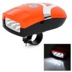 1-Mode White Light Bike Bicycle Headlight Headlamp & Electronic Horn - Orange (3 x AAA)