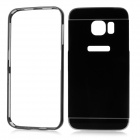 Aluminum Alloy + PC Back Case Cover for Samsung Galaxy S6 Edge - Black