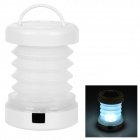 Outdoor Camping Folding Retractable 8lm 5-LED 2-Mode White Light Lantern Lamp - White (3 x AAA)
