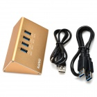 MAIWO KH104 Triangular 5Gbps USB 3.0 4-Port Hub w/ DC Cable - Gold