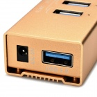 MAIWO KH204 5Gbps USB 3.0 4-Port Hub Socket Strip w/ DC Cable - Gold