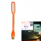 JIAWEN 1.2W Universal Bendable Portable USB LED Mini Lamp White 6500K 96lm - Orange (DC 5V)