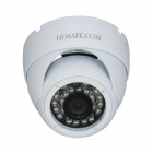 "HOSAFE 1MD1W impermeable 1/4"" CMOS 1.0MP HD cúpula de seguridad IP de la cámara de red w / 24-IR-LED (enchufe eu)"