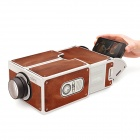DIY Assembled Cardboard Smartphone Mobile Phone Projector - Brown