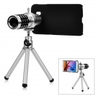 Removable Optical 12X Lens w/ Back Case / Tripod for Samsung S6 - Silver + Black