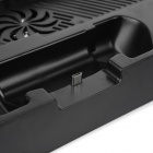 USB Charging Dock Stand w/ Cooling Fans for PS4 Controller - Black