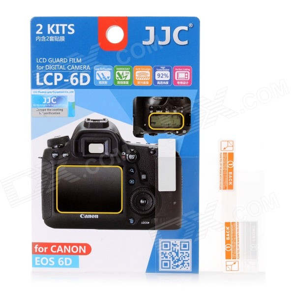 JJC LCP-6D Protective Screen Protector for Canon 6D - Transparent