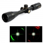 Opticsking OP6-24X44AOME Rifle Scope Gun Sight w/ Red & Green Illuminated Mil Dot Reticle - Black