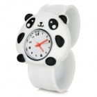 Cartoon Panda Pattern Zinc Alloy Silicone Band Quartz Analog Wrist Watch for Kids - White (1 x 377)