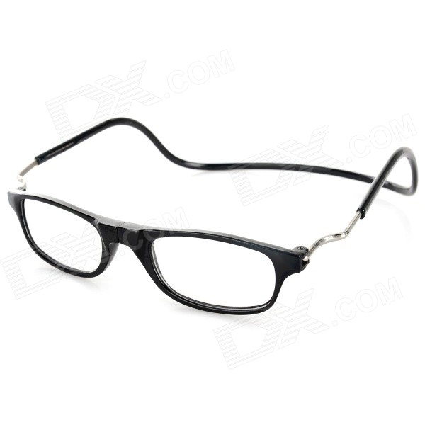 OULAIOU OL02 2.00 Diopter Magnetic Folding Neck-Wear Reading Presbyopic Glasses - Black