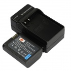 DSTE Replacement 7.2V 2000mAh Battery + DC160 US Plug Charger Set for Samsung NX1 Camera - Black