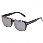OUMILY Fashion Universal UV400 Protection PC Lens Sunglasses - Black