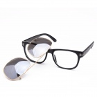 OUMILY Fashion Universal UV400 Protection PC Lens Sunglasses - Silver