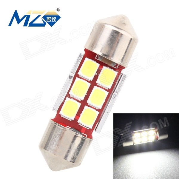 MZ 3W 31mm 6*2835 SMD 300lm Canbus Error-Free LED Car Light (12~18V)