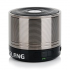 SLANG Bluetooth V3.0 Rechargeable Super Bass Media Player Speaker w/ TF / FM - Black + Grey