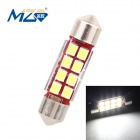 MZ Festoon 36mm 4W LED Car Reading Lamp Roof Light White 6500K 400lm SMD 2835 - Silver (12~18V)