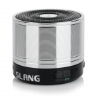 SLANG Bluetooth V3.0 Rechargeable Super Bass Media Player Speaker w/ TF / FM / 3.5mm - Silver