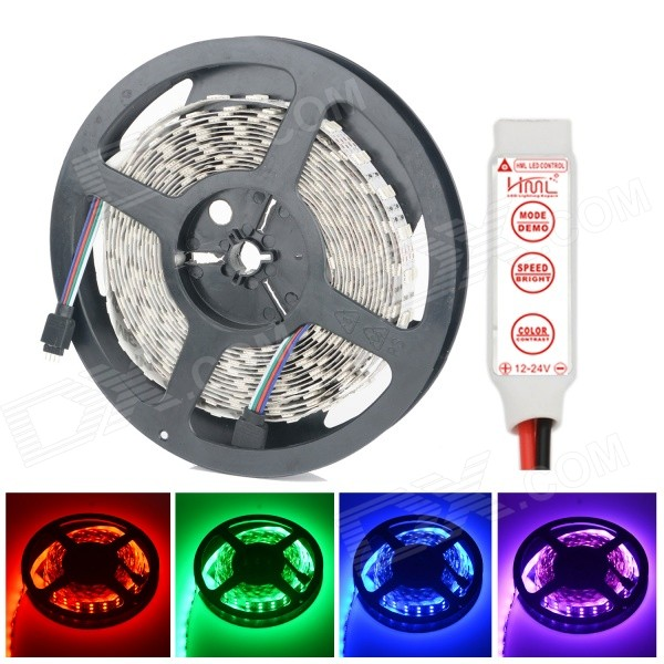 HML Dual Row 144W 6500lm 600-SMD 5050 RGB Strip (12V, 5m)