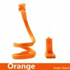 360 Degrees Rotating Snake Style Wearable Flexible Neck Smartphone Stand & Selfie Monopod - Orange