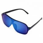 OUMILY Universal UV400 Protection PC Lens Sunglasses - Black + Blue