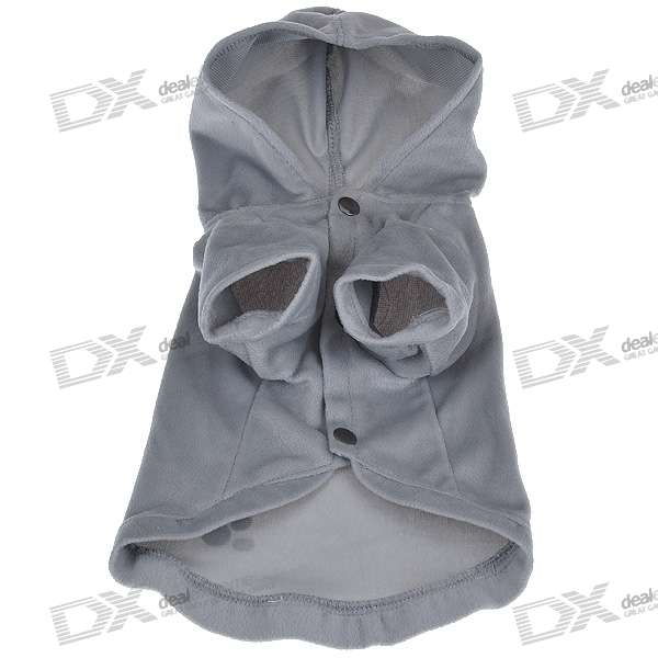 Grey Pet Clothing with Headpiece