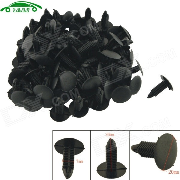 CARKING Car Interior Panel Trim Clips Rivet Fasteners - Black (100PCS)