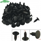 CARKING Universal plástico Panel Interior tapiceria Clips remaches sujetadores - negro (100pcs)