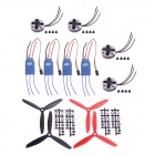 4-X2804 2280KV CW/CCW Brushless Motor + 4-15A ESC + 2 Pairs of 6045 3-Leaf Nylon Propeller Set