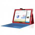 Multi-Function PU Case w/ Stand for Microsoft Surface 3 - Red