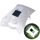 Solar Powered Water Resistant Inflatable Folding Light Lamp Outdoor Lantern for Camping - White