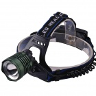 RichFire SF-653 3-Mode Zoomable LED Cool White Light Headlamp - Green (2 x 18650)