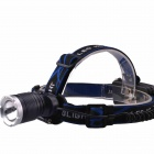 RichFire SF-652 3-Mode Zoomable LED Cool White Light Head Light - Black + Silver (2 x 18650)