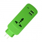 Multifunctional 750W Portable US Plug Power Socket - Green + White