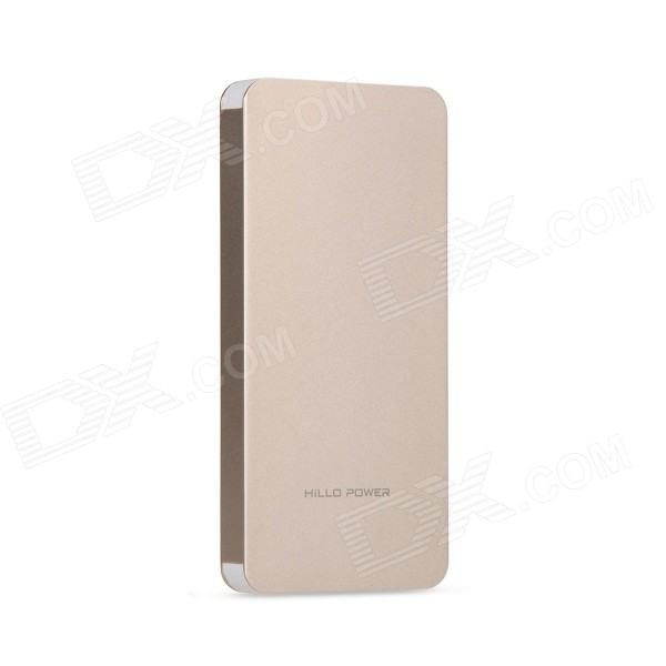Hillo-power T100S 10000mAh USB power bank m / LED-indikator - golden