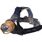 RichFire SF-650 3-Mode Zoomable LED White Light Head Light - Black + Yellow (2 x 18650)