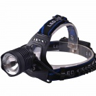 RichFire SF-654 3-Mode Zoomable LED Cool White Light Head Light - Black (2 x 18650)
