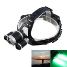 KINFIRE T6 R3 3-LED 1650lm 4-Mode White + Green Light Headlamp for Fishing Lamp (2 x 18650)