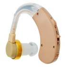 F-138 Adjustable Tone Digital In-Ear Hearing Aid Behind Ear Sound Amplifier - Light Brown (1 x AG13)