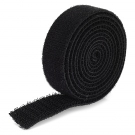 Dual Side Self-Stick Nailon Velcro Tapes - Musta (1.2m)