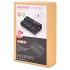 5V 12A 10-Port USB carregador de energia w / switch - preto (100 ~ 240V, UK plug)