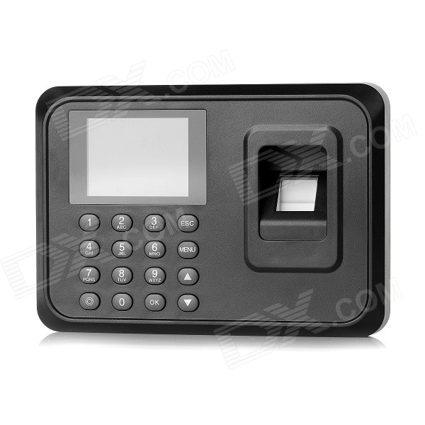 "2.4"" TFT ScreenDigital Fingerprint Attendance - Noir (US Plugs)"