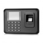 "2.4"" TFT Screen Employee Attendance Digital Fingerprint Time Clock Recorder - Black (US Plug)"