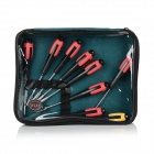 Multi-in-1 Professional Repair Tool Sleeves + Screwdrivers Set - Black + Red