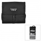 Creeper Water-Resistant Detachable Outdoor Travel Makeup Toiletries Wash Storage Bag - Black