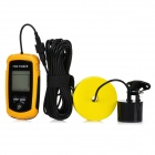 "Portable 2.0"" LCD Screen Wired Fish Finder Detector - Yellow + Black (4 x AAA)"