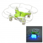 H7 2.4GHz 6-axis 4-CH Mode 2 R/C Quadcopter Toy w/ Gyro / LED - Green + White