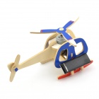 Robotime P240S DIY Solar Powered Bee Rotating Helicopter Toy - Blue