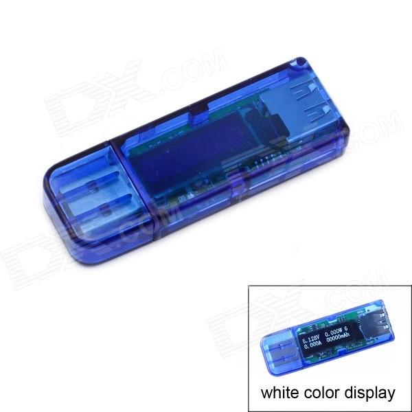 "Jtron 0.91"" 128*32 OLED USB Voltmeter Current Power Capacity Tester"