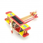 Robotime P220S DIY Solar Powered Veyron Plane Toy - Red + Yellow