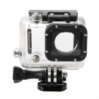 Waterproof Clear Protective Plastic + Aluminum Alloy Case for GoPro Hero 3 / 3+ / 4 - Transparent
